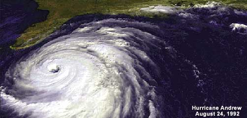 Satellite Image of Hurricane Andrew - ALLOW IMAGES
