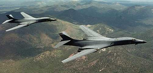 US B-1 bombers fly over Korean Peninsula - ALLOW IMAGES