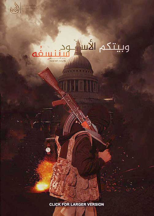 Islamic State threat poster for Washington - ALLOW IMAGES