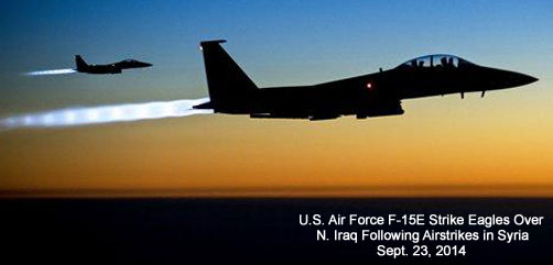 F-15E Strike Eagles Over Iraq - ALLOW IMAGES