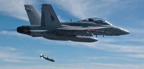 F18 Dropping JDAM - ALLOW IMAGES