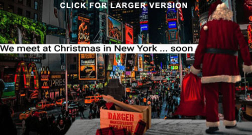Islamic State Propaganda / Threat poster - New York / Times Square - ALLOW IMAGES