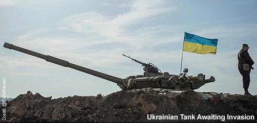 Ukrainian Tank Guarding Against Invasion - ALLOW IMAGES