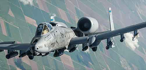 An A-10 Thunderbolt II departs after receiving fuel from a 340th Expeditionary Air Refueling Squadron KC-135 Stratotanker during a flight in support of Operation Inherent Resolve. - ALLOW IMAGES