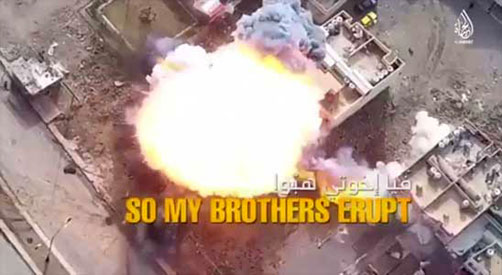 """Scene from latest Islamic State video entitled. """"Answer the Call."""" - ALLOW IMAGES"""