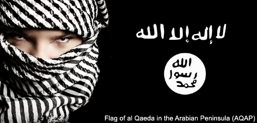Flag of al Qaeda in the Arabian Peninsula - ALLOW IMAGES