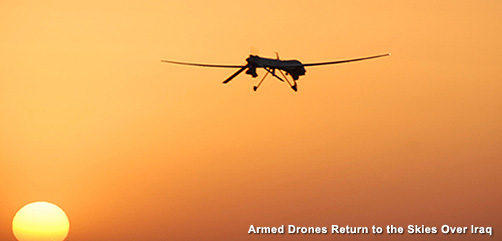 Armed Drone Over Iraq - ALLOW IMAGES