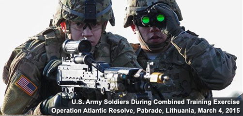 U.S. Army Soldiers Training in Lithuania - ALLOW IMAGES