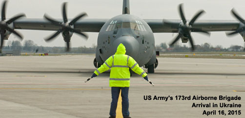 U.S. Army Arrival in Ukraine - ALLOW IMAGES
