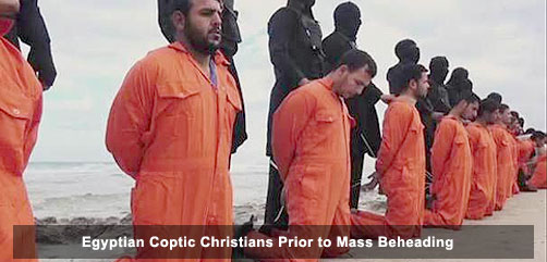 Egyptian Coptic Christian Prior to Mass Beheading - ALLOW IMAGES