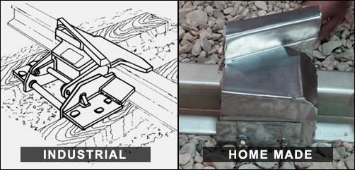 Image showing industrial and home made train derailing tools  - ALLOW IMAGES