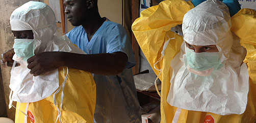 Ebola Medical Staff - ALLOW IMAGES