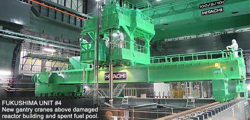 Fukushima Unit #4 Gantry Cranes - ALLOW IMAGES