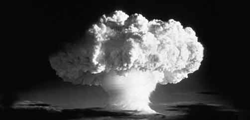 Ivy Mike (yield 10.4 mt) - an atmospheric nuclear test conducted by the U.S. at Enewetak Atoll on 1 November 1952. It was the world's first successful hydrogen bomb. - ALLOW IMAGES