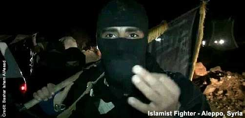 Islamist Fighter in Syria - ALLOW IMAGES