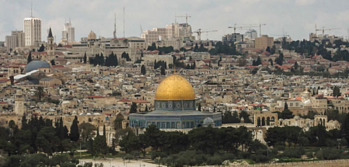 Scene of Home of the Rock and Jerusalem - ALLOW IMAGES