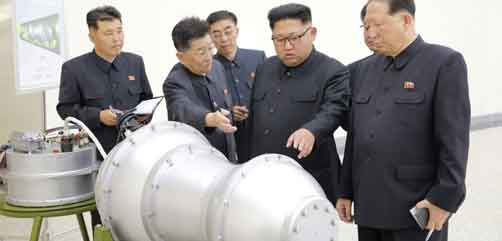 Kim Jong-un inspects supposed nuclear bomb - ALLOW IMAGES