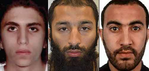 London Bridge attackers - ALLOW IMAGES