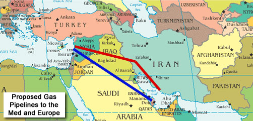 Middle East Pipeline Map - ALLOW IMAGES
