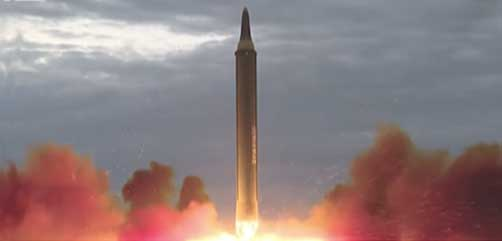N. Korean Hwasong-12 missile launch - ALLOW IMAGES