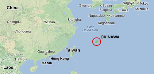 MAP OF OKINAWA - ALLOW IMAGES
