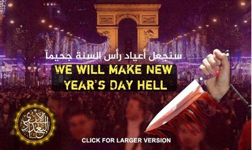 Islamic State Propaganda / Threat poster for Paris - ALLOW IMAGES