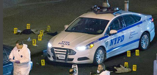 NYPD Shooting Scene - ALLOW IMAGES