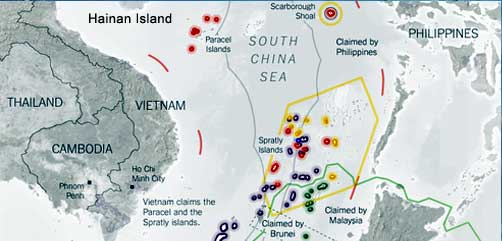 Map of S. China Sea Dispute Area - ALLOW IMAGES