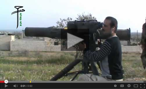 Syrian Rebel Firing U.S. Made BGM71 Anti-Tank Missile - ALLOW IMAGES