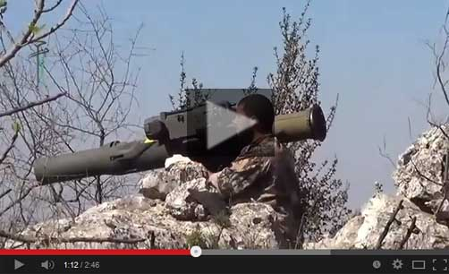 Syrian Rebel Firing U.S. Made BGM71 Anti-Tank Missile #2 - ALLOW IMAGES