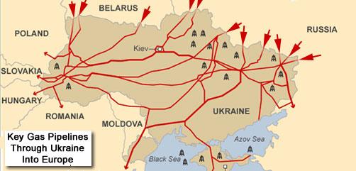 Ukraine Gas Pipeline Map - ALLOW IMAGES