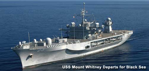 USS Mount Whitney Departs for Black Sea - ALLOW IMAGES