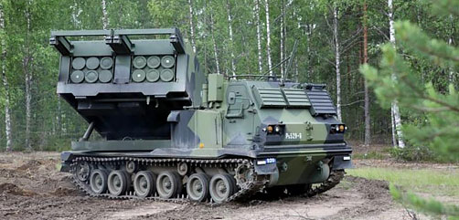 In late February, the U.S. government approved the sale of Extended Range Guided Multiple Launch Rocket Systems and related equipment to Finland.   - ALLOW IMAGES