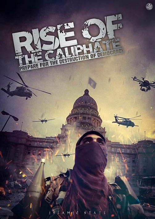 Islamic State propaganda poster. - ALLOW IMAGES