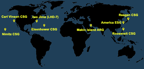 Fleet and Marine Tracker Map as of Feb 22, 2021  - ALLOW IMAGES