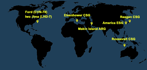 Fleet and Marine Tracker Map as of March 15, 2021  - ALLOW IMAGES