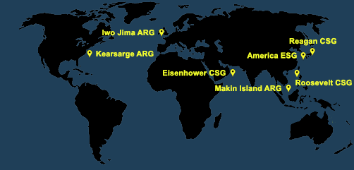 Fleet and Marine Tracker Map as of April 12, 2021  - ALLOW IMAGES