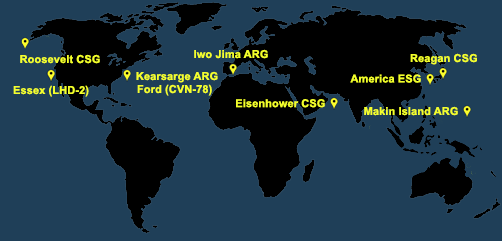 Fleet and Marine Tracker Map as of April 26, 2021  - ALLOW IMAGES
