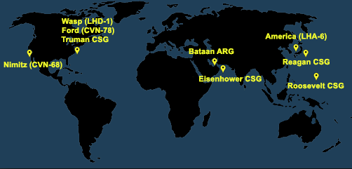 Fleet and Marine Tracker Map as of June 1, 2020  - ALLOW IMAGES