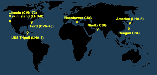 Fleet and Marine Tracker Map as of July 27, 2020  - ALLOW IMAGES