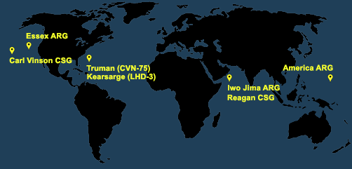 Fleet and Marine Tracker Map as of Aug 16, 2021  - ALLOW IMAGES