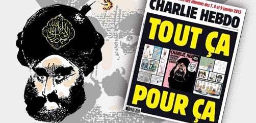 Cover image from latest issue of France's Charlie Hebdo magazine. - ALLOW IMAGES