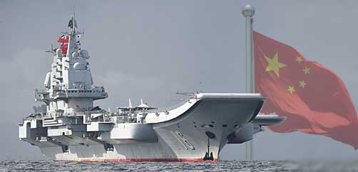 The PLAN Liaoning, oroginally a Soviet Kuznetsov-class ship, is a Chinese Type 001 aircraft carrier. - ALLOW IMAGES
