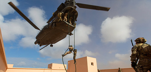 U.S. and Moroccan forces conduct a high value target capture exercise during African Lion 2021. African Lion is U.S. Africa Command's largest, premier, joint, annual exercise hosted by Morocco, Tunisia and Senegal. - ALLOW IMAGES