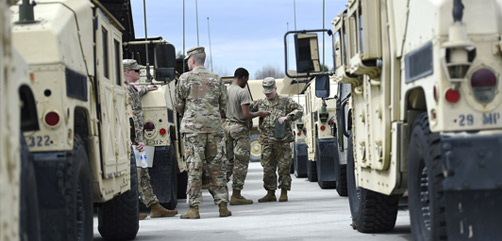 Governors across all 50 states, Puerto Rico, Guam, the U.S. Virgin Islands and Washington D.C. have each mobilized components of their Army and Air National Guard. - ALLOW IMAGES