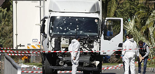Nice, France truck ramming attack scene - ALLOW IMAGES