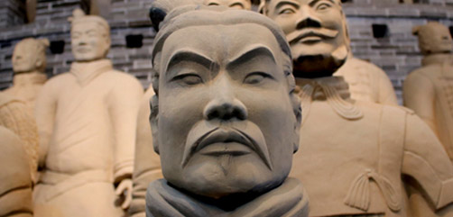 Terracotta warriors recovered from the vast 2200-year-old tomb of the first emperor Qin Shi Huang. - ALLOW IMAGES