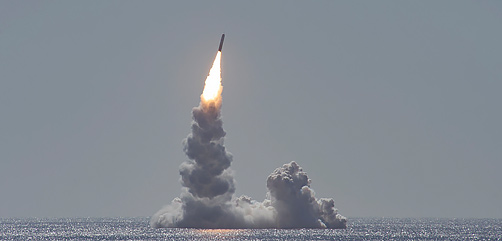 PACIFIC OCEAN (Feb. 12, 2020) An unarmed Trident II (D5LE) missile launches from the Ohio-class ballistic missile submarine USS Maine (SSBN 741) off the coast of San Diego, California, Feb. 12, 2020. The test launch was part of the U.S. Navy Strategic Systems Programsâ demonstration and shakedown operation certification process. The successful launch demonstrated the readiness of the SSBNâs strategic weapon system and crew following the submarineâs engineered refueling overhaul. This launch marks 177 successful missile launches of the Trident II (D5 & D5LE) strategic weapon system. (U.S. Navy photo by Mass Communication Specialist 2nd Class Thomas Gooley/Released) - ALLOW IMAGES